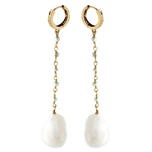 Elisa Ilana Pearl Pendulum Earrings