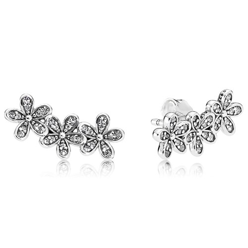 PANDORA Dazzling Daisies, Clear CZ Earrings
