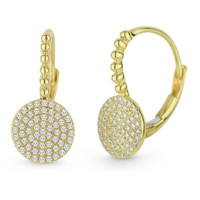 14K Yellow Gold Diamond Drop Earrings E1133Y