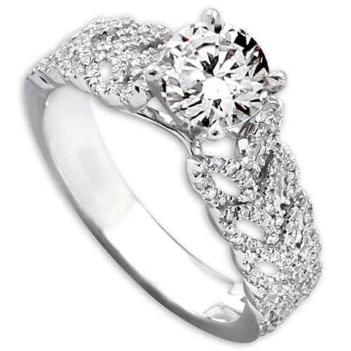 Hidalgo Diamond Ring with Leaf Design