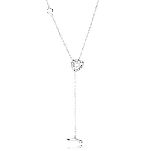 PANDORA Bright Hearts Necklace 397246NRPMX-55