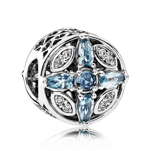 PANDORA Patterns of Frost, Multi-Colored Crystal & Clear CZ Charm