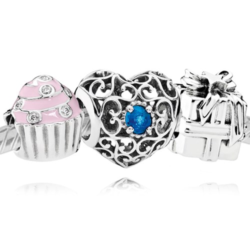 PANDORA Happy December Birthday Charm Set