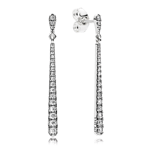 PANDORA Shooting Stars Clear CZ Dangle Earrings