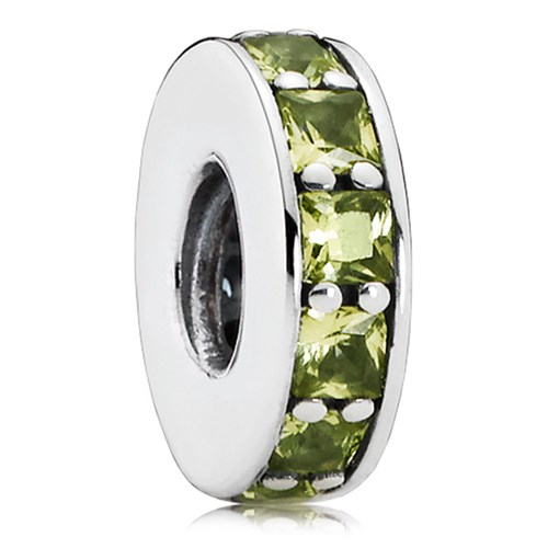 PANDORA Eternity with Olive Green Crystal Spacer