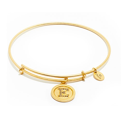 Chrysalis Initial E Gold Bangle