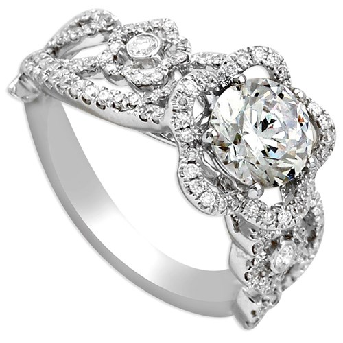 Hidalgo Diamond Ring with Floral Design