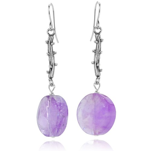 The Goddess Collection Branch Amethyst Earrings Made in the USA