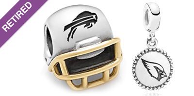 PANDORA NFL Football Charms
