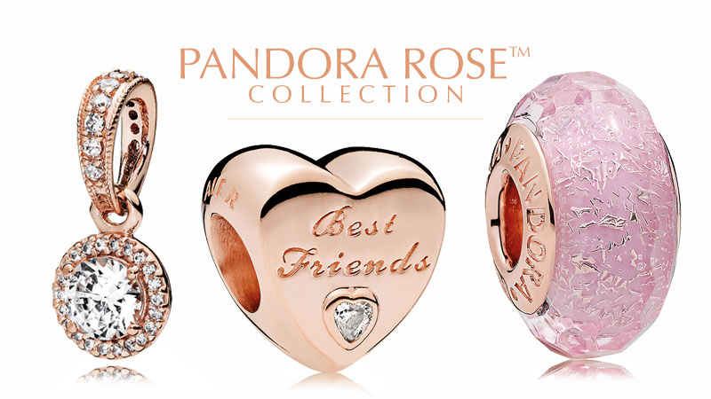 PANDORA Rose Gold Charms and Jewelry Collection