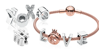 PANDORA Letter and Number Charms