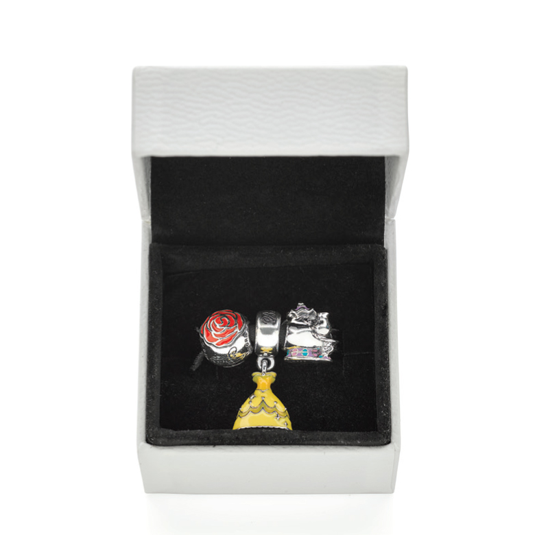 0b2cbdfda ... Set PANDORA Disney, Beauty & The Beast Limited Edition Charm ...