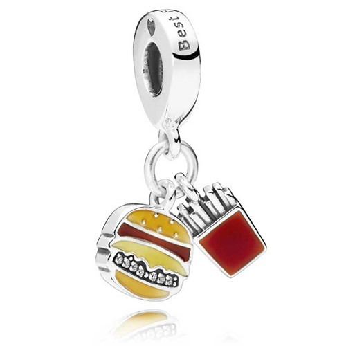 PANDORA Burger & Fries Dangle Charm 797211ENMX