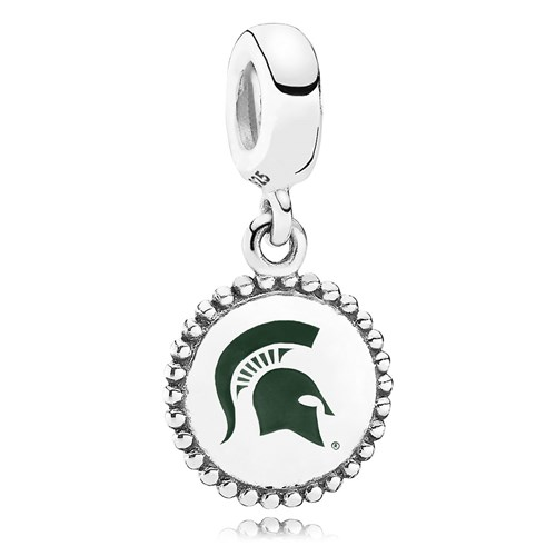 PANDORA Michigan State University Dangle Charm ENG791169_70