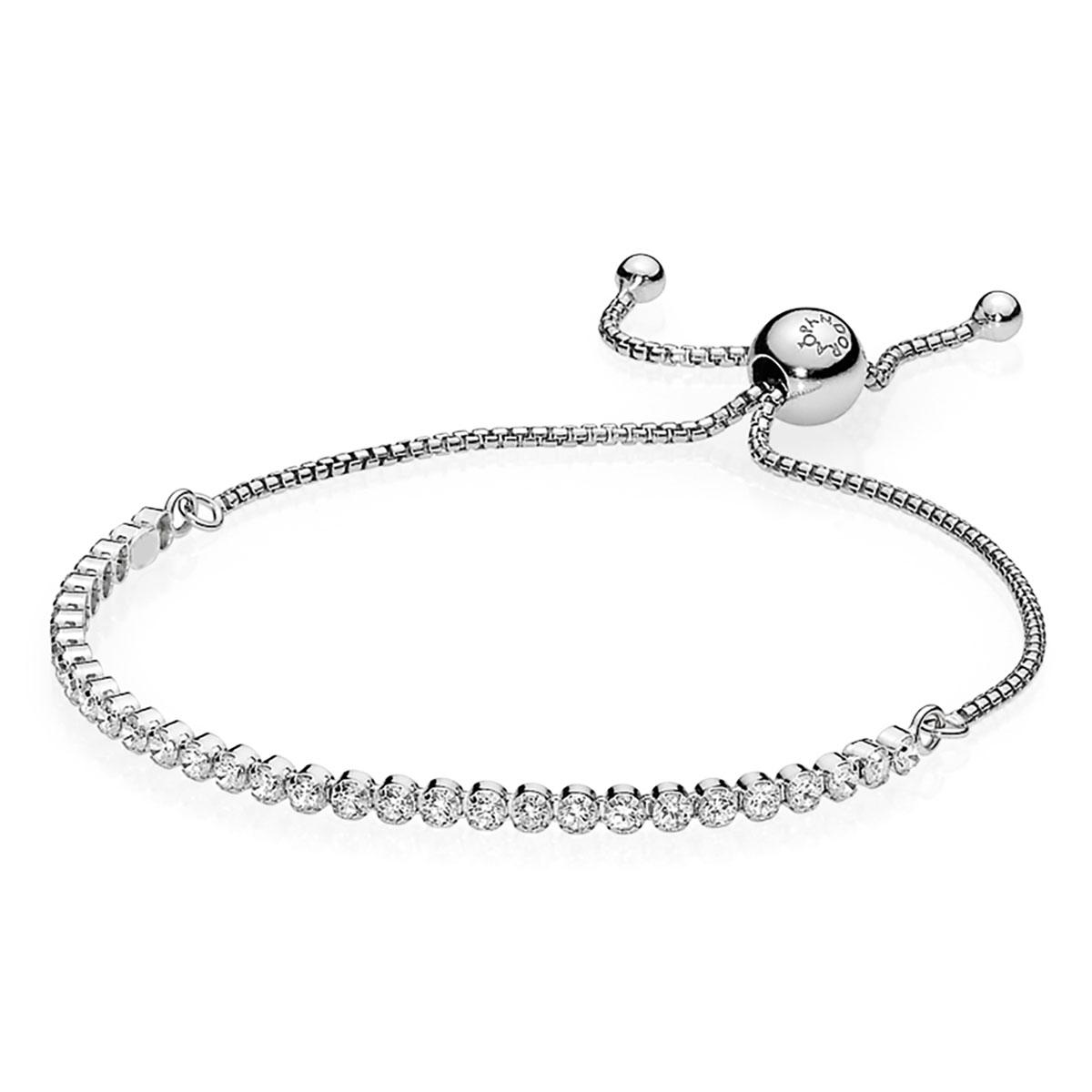 c371a6cc6 Sparkling Strand Bracelet, Clear CZ PANDORA - Pancharmbracelets.com