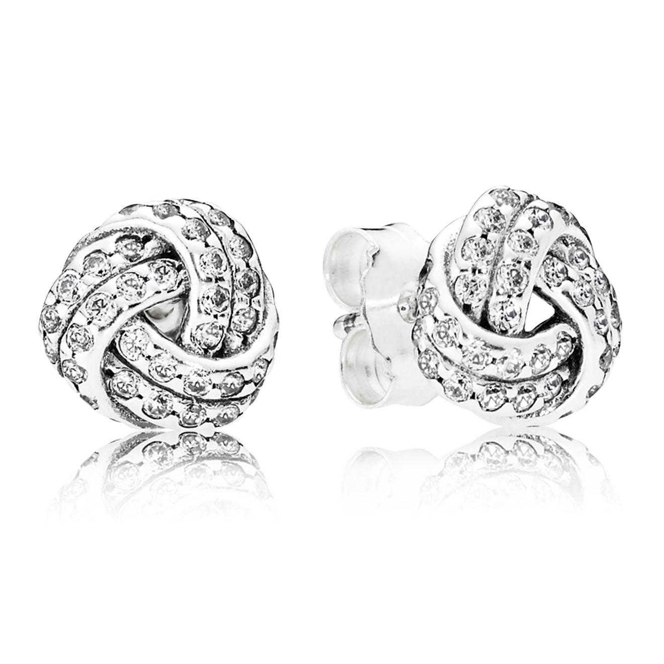 Sparkling Love Knot Ring Pandora Pancharmbracelets Com