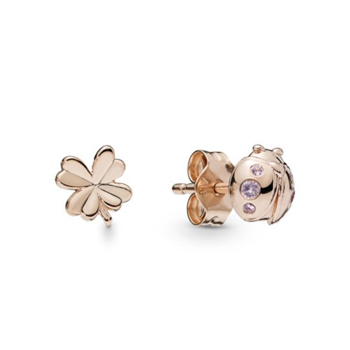 PANDORA Rose™ Four-Leaf Clover & Ladybird Stud Earrings 287960NPO