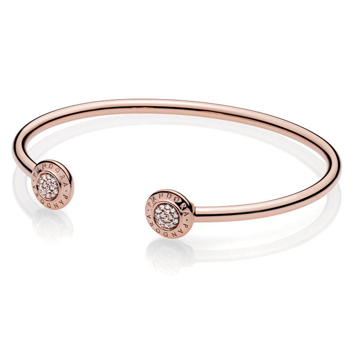 bdc185354 PANDORA Rose™ Signature Open Bangle Bracelet