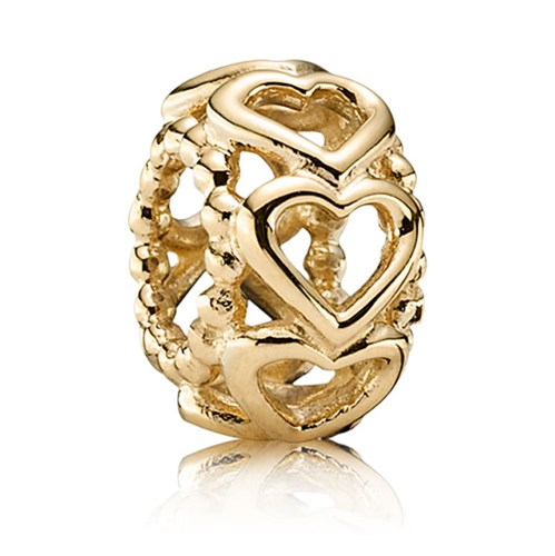 PANDORA 14K Lucky in Love Charm