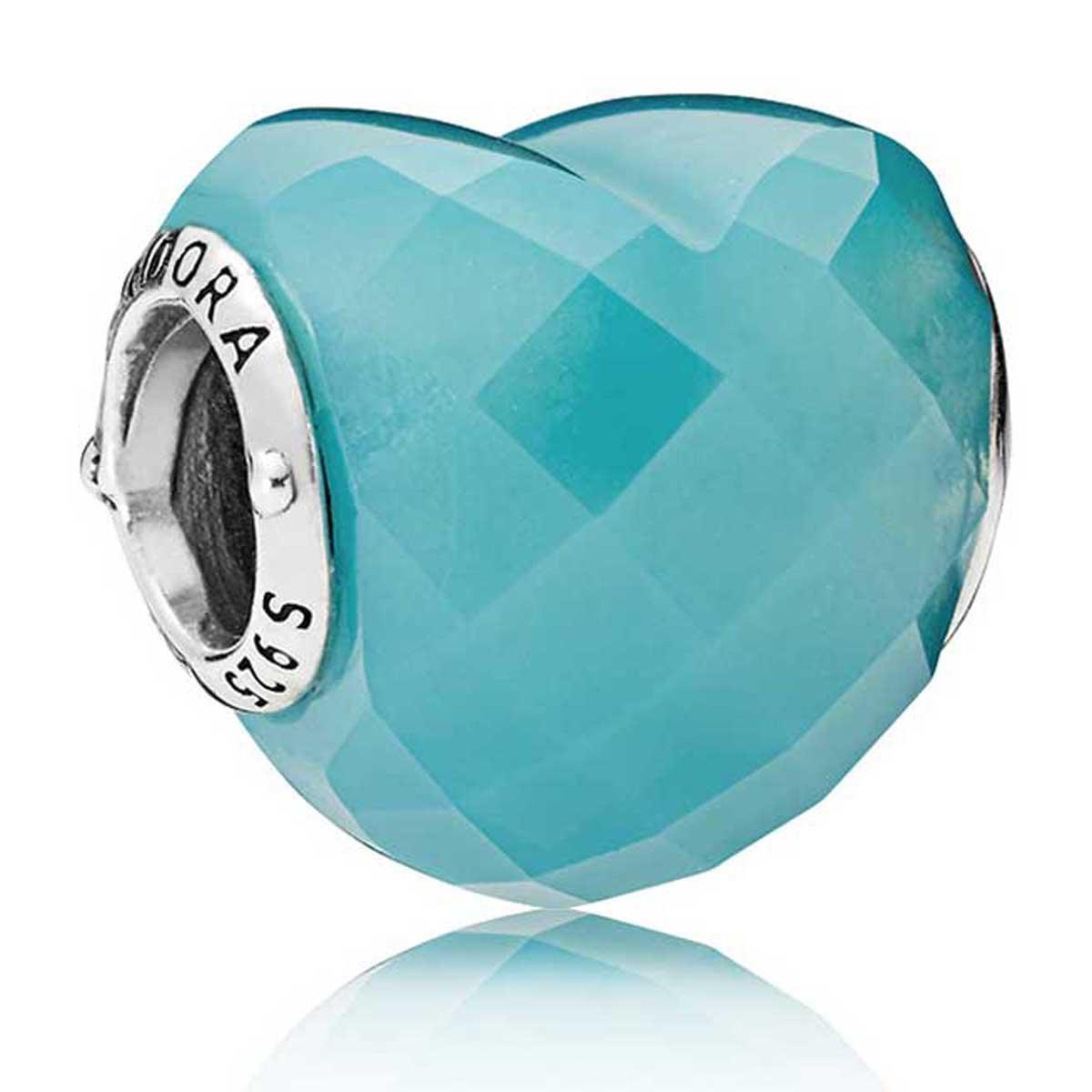 Pandora gemstone cz charms pancharmbracelets pandora blue shape of love charm 796563nsc izmirmasajfo