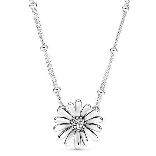 Pandora Pavé Daisy Flower Collier Necklace 398964C01-45