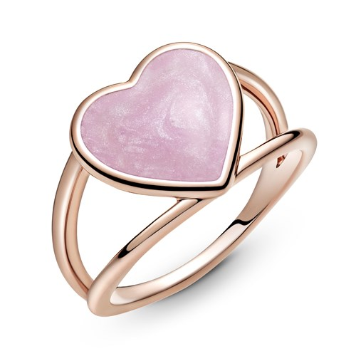 Pandora Rose™ Pink Swirl Heart Statement Ring