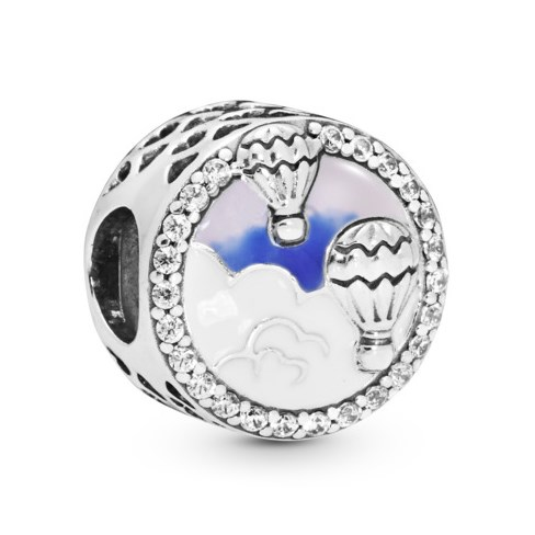 PANDORA Hot Air Balloon Trip Button Charm 798061CZ