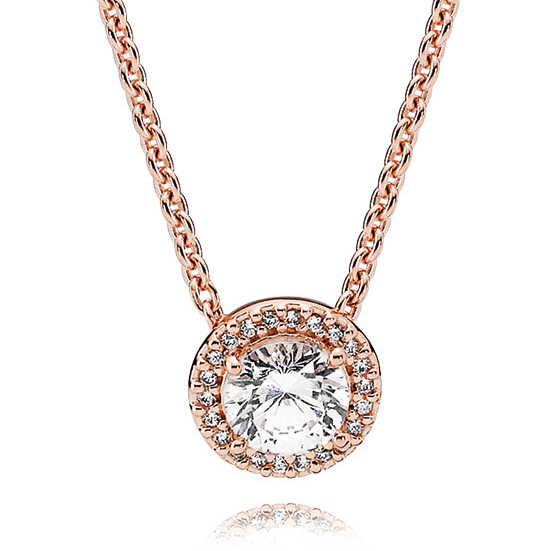 232815a9f PANDORA Rose CZ Classic Elegance Necklace Detail ...