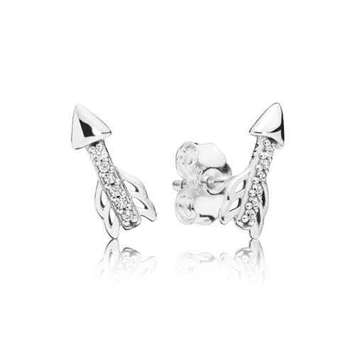 PANDORA Sparkling Arrows Stud Earrings 297828CZ
