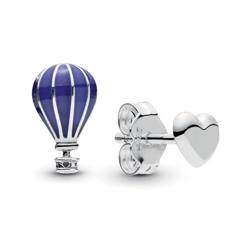 PANDORA Hot Air Balloon & Heart Stud Earrings 298058EN195