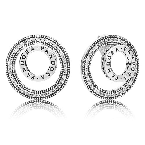 PANDORA Forever Signature Earrings 297446CZ