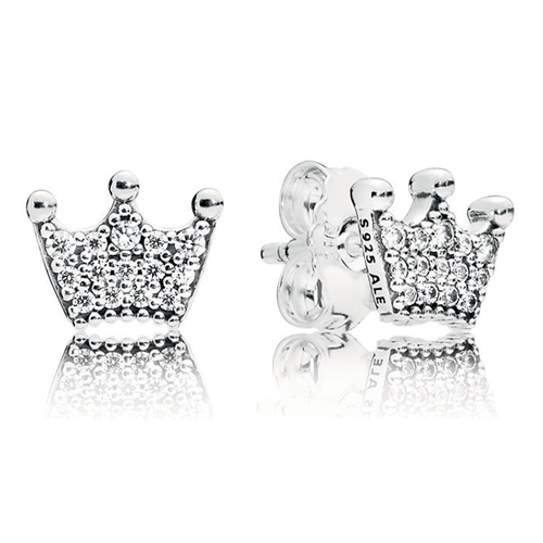 PANDORA Enchanted Crowns Stud Earrings