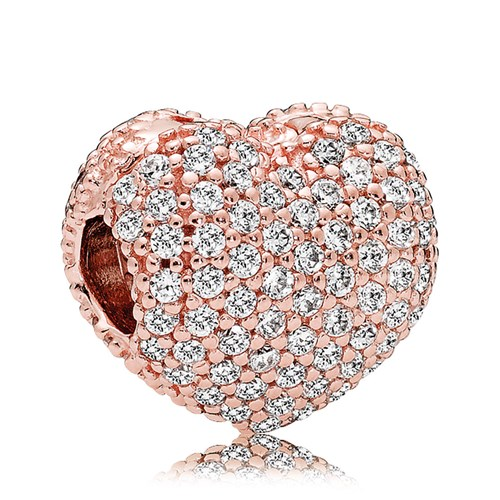 PANDORA Rose Gold Pavé CZ Open My Heart Clip
