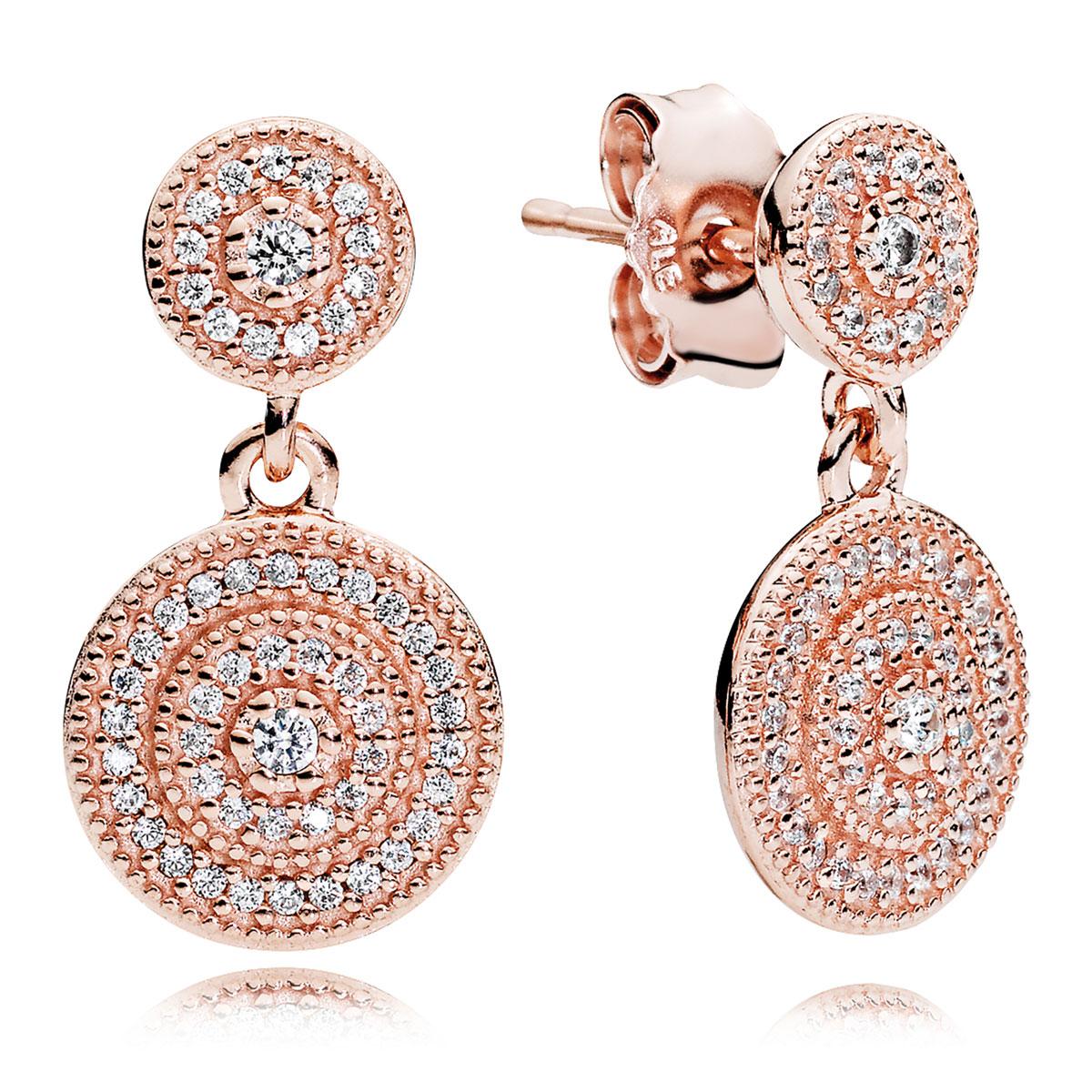 f1b588f00 PANDORA Rose™ Radiant Elegance, Clear CZ Earrings