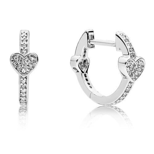 PANDORA Alluring Hearts Earrings 297290CZ