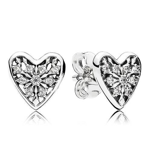 PANDORA Hearts of Winter CZ Stud Earrings