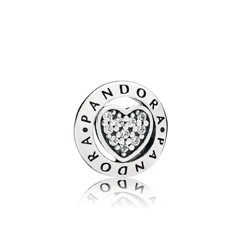 PANDORA Signature Heart Petite Locket Charm 797048CZ