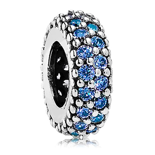 PANDORA Inspiration Within with Blue Crystal Spacer
