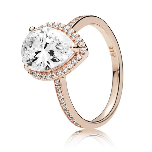 PANDORA Rose™ Radiant Teardrop Ring 186251CZ