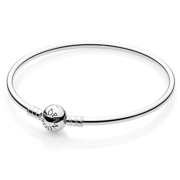 e20439eee92 PANDORA Sterling Silver with Barrel Clasp Bangle Bracelet ...
