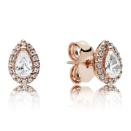 PANDORA Rose™ Radiant Teardrop Earrings 286252CZ