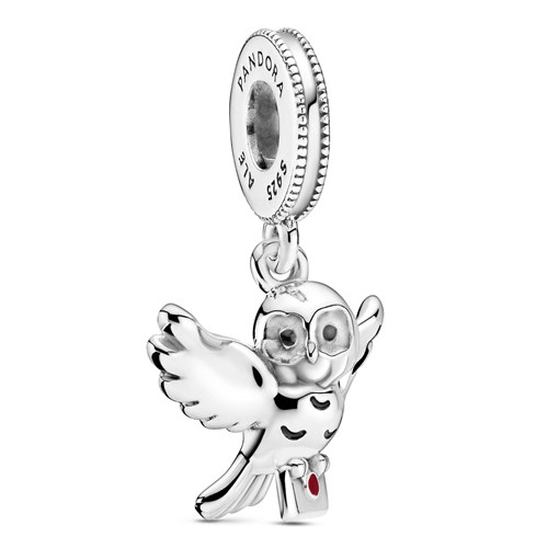 Sterling Silver Harry Potter x Pandora Hedwig Flying Owl Dangle Charm