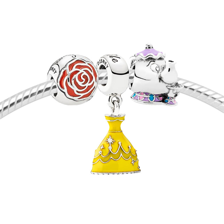 e36f337c2 PANDORA Disney, Beauty & The Beast Limited Edition Charm Gift Set ...