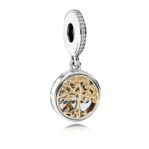 PANDORA Family Roots with Clear CZ Dangle
