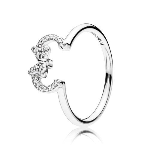 PANDORA Disney, Minnie Silhouette Ring 197509CZ