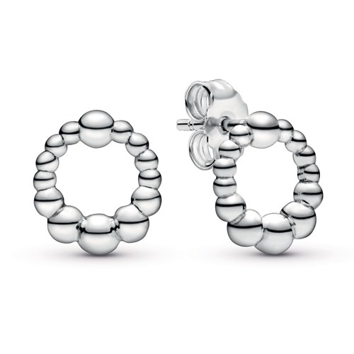 Pandora Beaded Circle Stud Earrings 298683C00