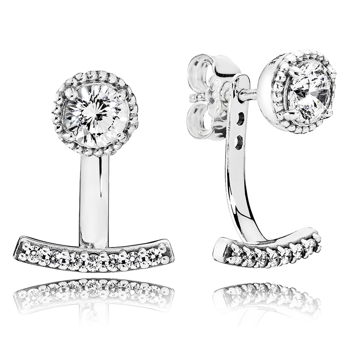 34ab032b6 PANDORA Abstract Elegance, Clear CZ Earrings