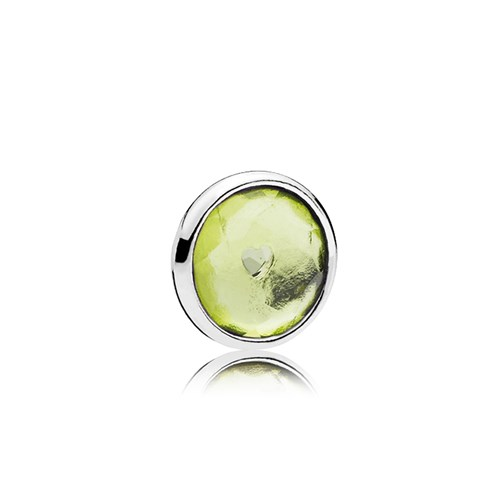 PANDORA August Droplet Petite Locket Charm 792175NRG