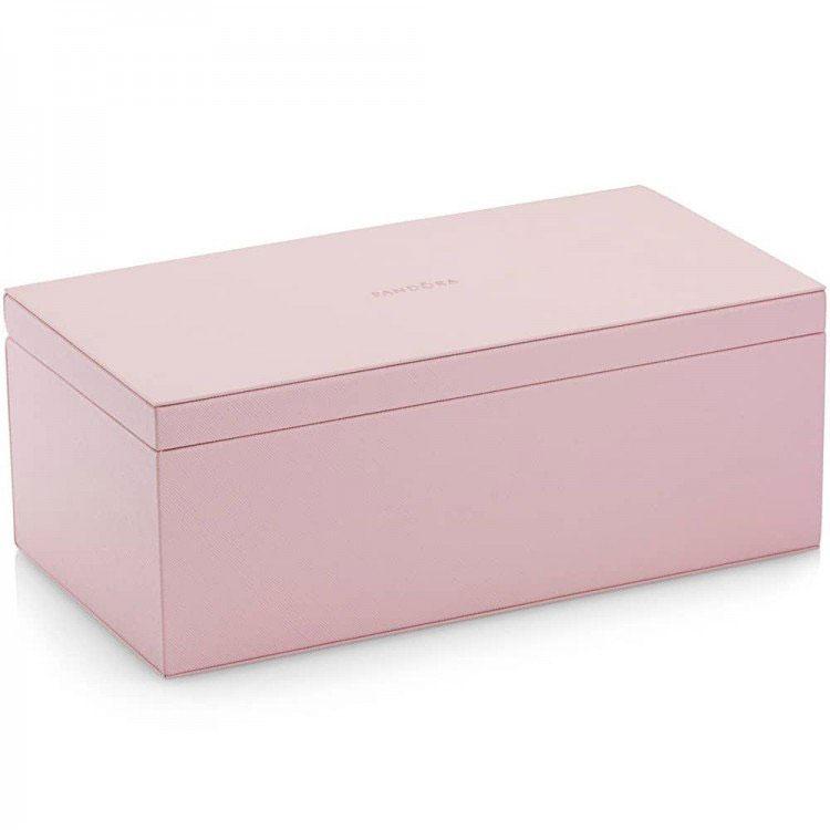 Pandora Medium Pink Leather Jewelry Box Pancharmbracelets Com