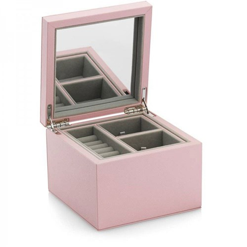 Pandora Small Pink Leather Jewelry Box A004
